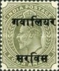[King Edward VII, 1841-1910 - India Postage Stamps Overprinted - 10mm between Overprint, type B4]