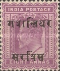 [King Edward VII, 1841-1910 - India Postage Stamps Overprinted - 10mm between Overprint, type B5]