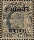 [King Edward VII, 1841-1910 - India Postage Stamps Overprinted - 8mm between Overprint, type B7]