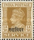 [King George VI, 1895-1952 - India Service Stamps Overprinted, type F5]