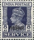 [King George VI, 1895-1952 - India Service Stamps Overprinted, type F9]