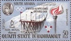 [Airmail - Olympic Winter Games - Grenoble, France, Typ CF]