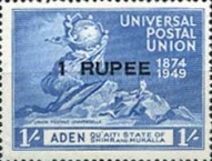 [The 75th Anniversary of the Universal Postal Union - Aden Postage Stamps of 1949 With Inscription