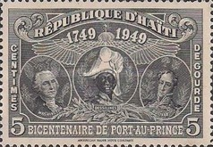[The 200th Anniversary of Port-au-Prince - George Washington, J.J. Dessalines & Simón Bolivar, Typ B1]