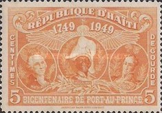 [The 200th Anniversary of Port-au-Prince - George Washington, J.J. Dessalines & Simón Bolivar, Typ B3]