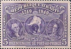 [The 200th Anniversary of Port-au-Prince - George Washington, J.J. Dessalines & Simón Bolivar, Typ B4]