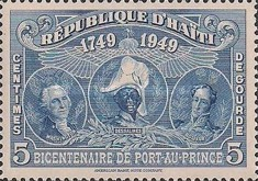 [The 200th Anniversary of Port-au-Prince - George Washington, J.J. Dessalines & Simón Bolivar, Typ B5]