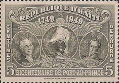 [The 200th Anniversary of Port-au-Prince - George Washington, J.J. Dessalines & Simón Bolivar, Typ B6]