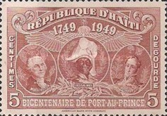 [The 200th Anniversary of Port-au-Prince - George Washington, J.J. Dessalines & Simón Bolivar, Typ B7]