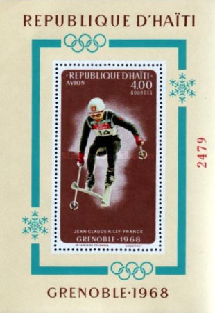 [Airmail - Winter Olympic Games - Grenoble, France - Medal Winners, Typ ]