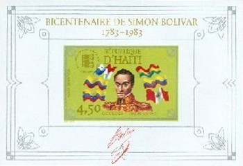 [Airmail - The 200th Anniversary of the Birth of Simon Bolivar, 1770-1818, Typ ]