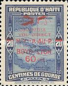 """[Airmail - """"Columbia"""" New York-Haiti Flight - Overprinted """"COLUMBIA VOL-DIRECT N.-Y.-P.AU-P. BOYD-LYON 60 CTS"""" and Surcharged, Typ AQ1]"""