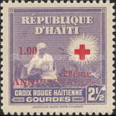 [The 28th Anniversary of Haitian Red Cross - 1945 Red Cross Stamps Overprinted