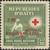 [Airmail - The 28th Anniversary of Haitian Red Cross - 1945 Red Cross Stamps Overprinted