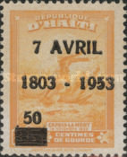 [The 150th Anniversary of the Death of Toussaint l'Ouverture - Issue of 1946 Overprinted