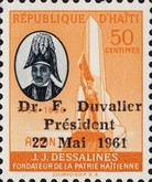 [Airmail - Re-election of President Duvalier - Overprinted
