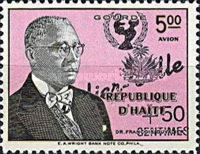 [Airmail - Duvalier-Ville Reconstruction Fund - Issues of 1958 Overprinted with UNICEF Emblem,