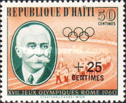 [Olympic Games - Rome, Italy - Issues of 1960 Surcharged, Typ FM1]