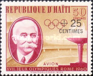[Airmail - Olympic Games - Rome, Italy - Issues of 1960 Surcharged, Typ FO1]