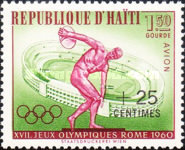 [Airmail - Olympic Games - Rome, Italy - Issues of 1960 Surcharged, Typ FP1]