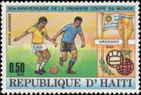 [Airmail - The 50th Anniversary of First Football World Cup in Uruguay, Typ SD]