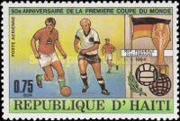[Airmail - The 50th Anniversary of First Football World Cup in Uruguay, Typ SE]