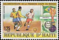 [Airmail - The 50th Anniversary of First Football World Cup in Uruguay, Typ SG]