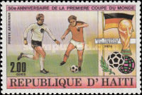[Airmail - The 50th Anniversary of First Football World Cup in Uruguay, Typ SJ]