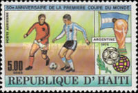 [Airmail - The 50th Anniversary of First Football World Cup in Uruguay, Typ SK]