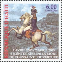 [The 200th Anniversary of the Death of Toussaint L'Ouverture, 1743-1803, type YF4]