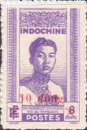 [Indochina Stamps Overprinted and Surcharged, Typ T1]