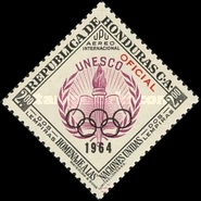 [Airmail - Olympic Games - Tokyo, Japan - Official Stamp of 1953 Overprinted