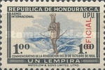 [Airmail - Revolution of October 21, 1956 - Honduras Postage Stamps of 1957 Overprinted