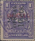 [Costal Landscape - Honduras Official Stamp of 1913 Surcharged, Typ E16]
