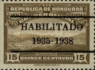 [View of Tegucigalpa - Official Stamps of 1931 Overprinted
