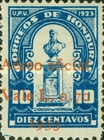 [Airmail - Bust of Dionisio de Herrera - Postage Stamps of 1924 Surcharged, type T6]