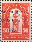 [Airmail - Bust of Dionisio de Herrera - Postage Stamps of 1924 Surcharged, type T7]