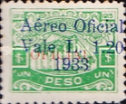 [Airmail - Bonilla National Theatre - No. 54 & 59 Surcharged, type U1]