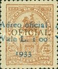 [Airmail - Francisco Morazan Monument - No. 64-67 Surcharged, Typ U8]