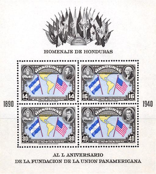 [Airmail - The 50th Anniversary of Pan-american Union, type ]