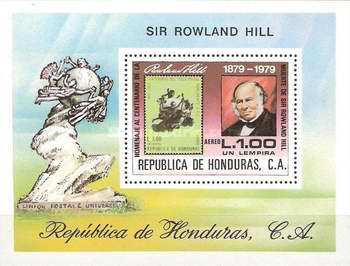 [Airmail - The 100th Anniversary of the Death of Sir Rowland Hill, Typ ]