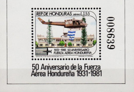 [Airmail - The 50th Anniversary of Honduras Air Force, type ]