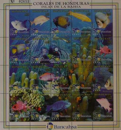 [Airmail - The 50th Anniversary of Bancahsa - Marine Life of Bahia Coral Reef, Typ ]