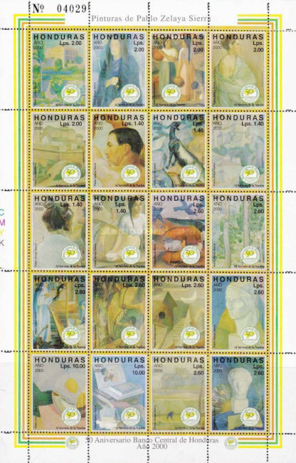 [The 50th Anniversary of Central Honduras Bank - Paintings by Pablo Zelaya Sierra, type ]