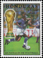 [Airmail - Football World Cup - France, Typ ACK]