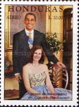 [Airmail - The 1st Anniversary of Inauguration of President Carlos Roberto Flores, type ACT]