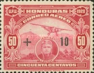 [Airmail - Flight New York-Honduras - Previous Issue Surcharged, type AL2]