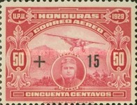 [Airmail - Flight New York-Honduras - Previous Issue Surcharged, type AL3]