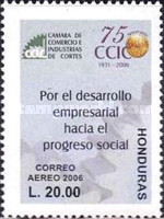 [Airmail - The 75th Anniversary of Chamber of Commerce and Industry of Cortes, Typ AQI]
