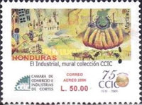 [Airmail - The 75th Anniversary of Chamber of Commerce and Industry of Cortes, Typ AQK]